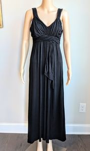New York and Company Ruched Maxi Dress Trendy Fun